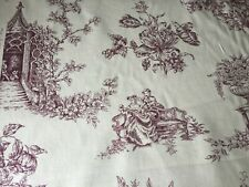 "Vintage Sanderson ""English Toile"" / Toile Fabric - 12.5 m"