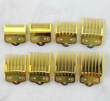 8 pcs Gold Professional Cutting Hair Clipper Premium Guides Combs Guards