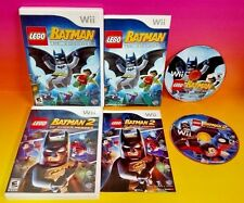 LEGO Batman 1 + 2: DC Super Heroes (Nintendo Wii, 2012) 2 game bundle 1-2 Player