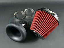 """Blox Velocity Stack 3.5"""" Composite Black with Air Filter and Silicone Coupler"""