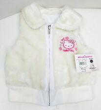 2007 Hello Kitty Reversible Vest Jacket Faux Fur/Vinyl Coat Size: XS