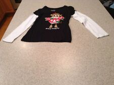 """Justice Girls Size 10 Black long sleeve shirt """"Ugly Sweater"""""""