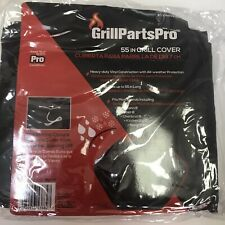 Grill Cover 55 inch Vinyl Black Grillparts Pro Protection Drawstring New