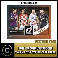 2018-19 DONRUSS SOCCER 12 BOX (FULL CASE) BREAK #S058 - PICK YOUR TEAM