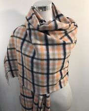 Paul Smith Women Scarf Made In England Border Check T Wool