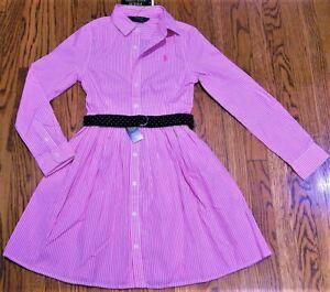 POLO RALPH LAUREN ORIGINAL GIRLS BRAND NEW AUTHENTIC PINK DRESS Size 10, NWT