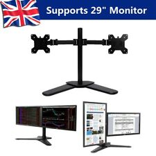 Double Twin Arm Desk Mount Stand LCD LED Monitor Computer 10''-29'' Screen TV UK