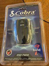 Cobra 9 band Esd 7400 Radar Laser Detector New Unopened Original Package Vg-2