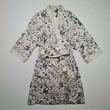 Debenhams Gorgeous Women's Sleepwear Cream 3/4 Sleeves Floral Pyjama Robe 12-14