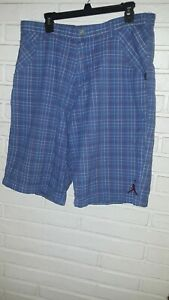 Air Jordan Jumpman Men's Plaid Blue/Red Golf Shorts Size 36
