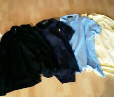 Polo Ralph Lauren LOT OF 4 Mens Shirt Size Large Yellow, Blue and Black
