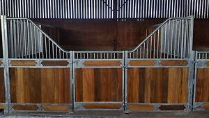 Internal 12' Hazel Range Stable front with door and Hardwood infill