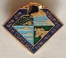 Mid North Coast Bowling Association Club Badge Rare Vintage (L4)