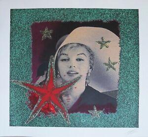 Omar Ronda serigrafia Marilyn Forever (verde)  70x70 firmata numerata  57/60