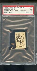 1948 Topps Magic Photo Track And Field Champions 1 Jesse Owens PSA 3 Graded Card