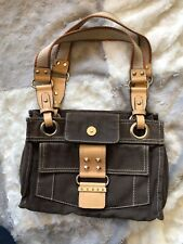 Guess brown Canvas With Light Leather Trim Shoulder Small Bag