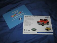 TOYS R US Exclusive Promo Display Sign ~Land Rover Defender (Motorized Car)