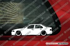 2x LOW Lowered BMW e36 4-Door Saloon 325i,318i,M3,328i car outline STICKERS