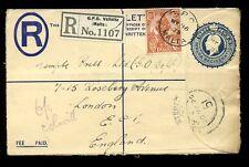 Malta registrado Papelería kg5 3d + 1 1/2 D 1925