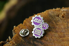 Go Go Gadget M Code Name Game McDonald's Pin Pinback Purple Silver Tone Metal