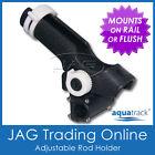 1 X Hduty Adjustable Ratchet Side Rail Mount Plastic Boat Fishing Rod Holder