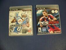 Pro Evolution Soccer PES 2015 & Madden NFL 13 PS3 Playstation 3