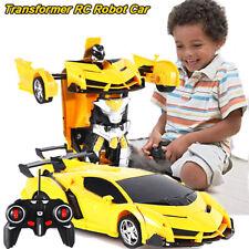 Transformer RC Robot Car Remote Control 2IN1 Deformation Kids Boys Toy Xmas Gift
