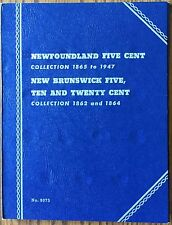 Newfoundland Five Cent New Brunswick Five Ten Twenty Cent Canada Whitman #9075