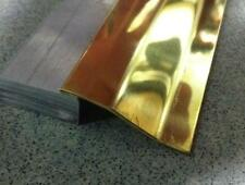 Profilo Ottone lucido c/pelabile per parquet pavimento laminato flottante mt 1