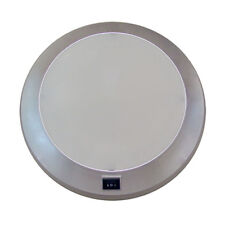 Caravan Light Ceiling Roof Fluro Light 250mm Dual Mode Switched Silver Frame