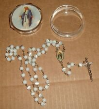 LADY OF GRACE ROSARY w/ LADY OF GRACE CASE  Inexpensive Catholic NEW Mary Jesus