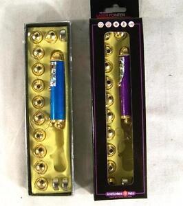 LASER POINTER 12 TIP KEY CHAIN new lazer keychain different tips designs w dot