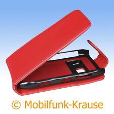 Flip Case Etui Handytasche Tasche Hülle f. Nokia N8-00 (Rot)
