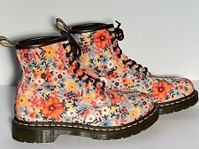 DOC MARTIN Floral Combat boots 8.5 US Womens