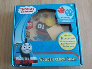 Thomas The Tank Wooden Clock Game - sealed never used