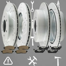 Front Rear Drill Brake Rotors and Ceramic Pads for 2004-2008 Ford F-150 XLT 4.6L