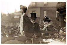 Postcard, Suffragette Leader Emmmeline Pankhurst Speaking c1910 Repro 15F