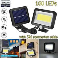 Waterproof 100 LED COB Solar Power Motion Sensor Wall Light Garden Outdoor Lamp