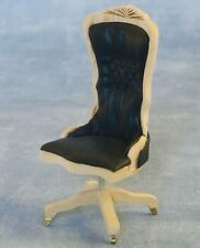 Bare Wood Office Desk Chair 12th Scale for Dolls House Study