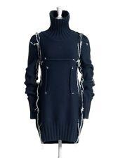 MAISON MARTIN MARGIELA H&M BLUE 100% WOOL DARTED JUMPER UK 12 EU 38 MEDIUM BNWT