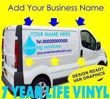 Véhicule Commercial Vinyl Graphics Van Autocollant Signe Making Fenêtre Nettoyage