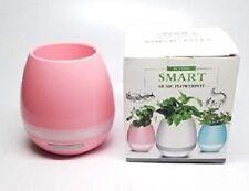 Bluetooth Speaker Smart Music Flower Pot PATHONOR w/ LED Night Light Touch PINK