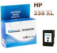 1x Drucker Patrone Seitronic für HP 338 XL Schwarz PhotoSmart C3150 C3170 C3173