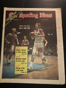 1973 Sporting News NCAA Basketball Preview UCLA Bruins WALTON No Label BIG MAN