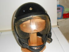 Vtg. Crown C-1 Black w/ Yellow & Orange Striped Motorcycle? Snowmobile? Helmet