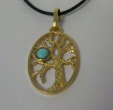 Collares y colgantes de bisutería de piedra de bronce