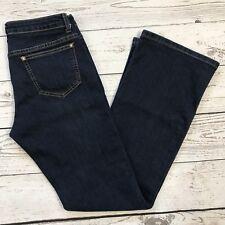V Cristina Women SZ 4 Bootcut Embellished Mid-Rise Dark Wash Blue Jeans 5-Pocket