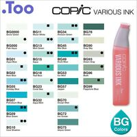 """Copic Various Ink """"BG(Blue Green) Color Series""""Refill for Too Sketch and Ciao"""