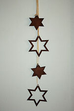 Edelrost Stern im 2er Set, Weihanchtsdeko zum hängen