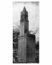 WOOLWORTH BUILDING CASS GILBERT NYC 1911 8x12 SILVER HALIDE PHOTO PRINT